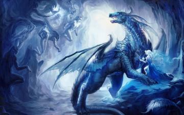 обоя фэнтези, драконы, дракон, сказка, монстр, чудище, сказочный, мир