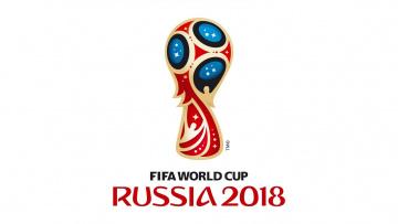 обоя спорт, логотипы турниров, эмблема, Чемпионата, мира, по, футболу, 2018, на, белом, фоне