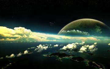 обоя фэнтези, иные миры,  иные времена, мир, измерение, космос, планета, небо