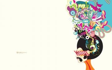 обоя векторная графика, люди , people, усы, мысли, мужчина, голова