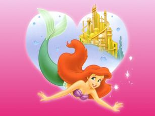 обоя мультфильмы, the, little, mermaid