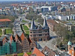 Картинка города панорамы любек германия