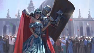Картинка фэнтези люди девушка рыцарь