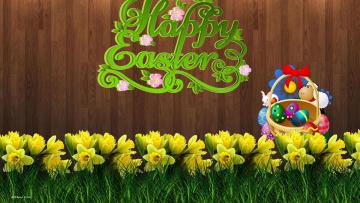 Картинка праздничные пасха цветы яйца
