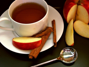 Картинка еда напитки +Чай чай корица яблоки