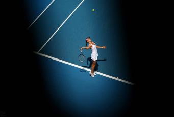 обоя спорт, теннис, взгляд, девушка, ракетка, фон