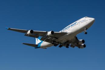 обоя b744, авиация, пассажирские самолёты, авиалайнер