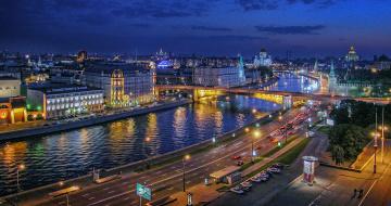 Картинка города москва+ россия москва-река московский кремль москва