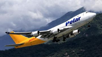 обоя boeing 747, авиация, грузовые самолёты, авиалайнер