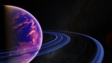обоя космос, арт, звезды, планета, галактика, вселенная