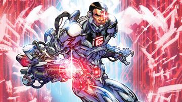 обоя рисованное, комиксы, cyborg