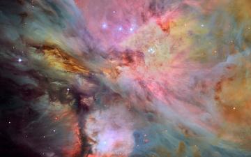 обоя космос, галактики, туманности, мессье, 42, светящаяся, эмиссионная, туманность, m, ориона, звезды