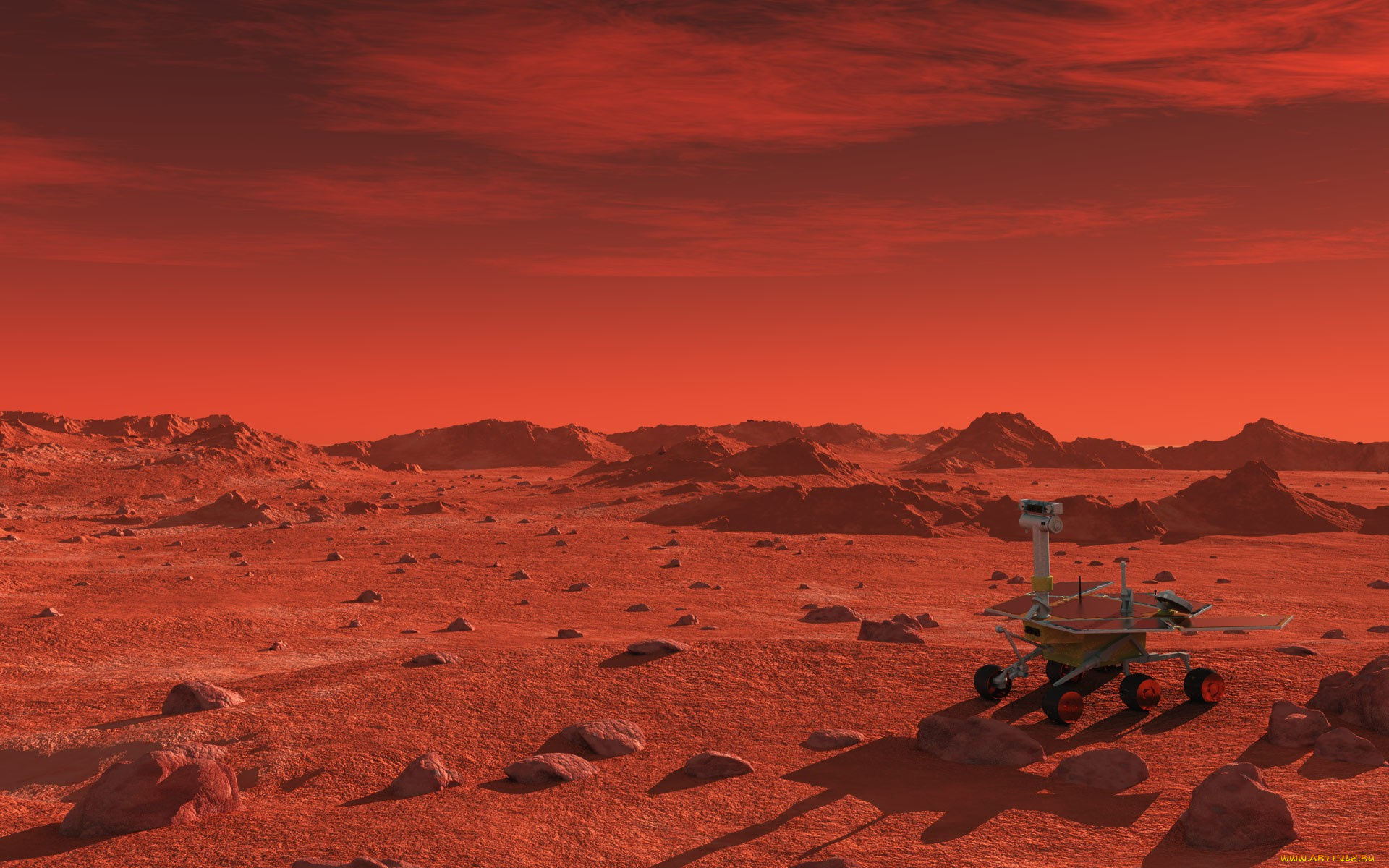 mars landscape background - HD 1366×768