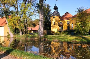 Картинка германия рёдингхаузен города улицы площади набережные река дома