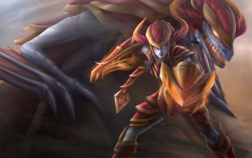 Картинка фэнтези существа shyvana league of legends the half-dragon