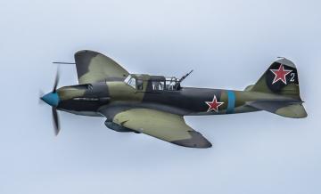 Картинка ilyushin+ii-2m3+shturmovik авиация боевые+самолёты штурмовик