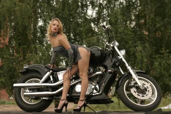 обоя moto girl 11, мотоциклы, мото с девушкой, girls, moto