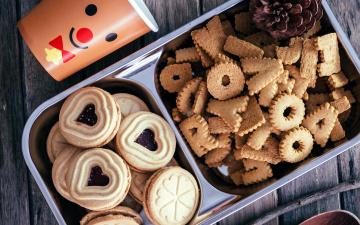 Картинка еда пирожные +кексы +печенье печенье ассорти