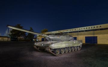 обоя leopard 2e, техника, военная техника, бронетехника
