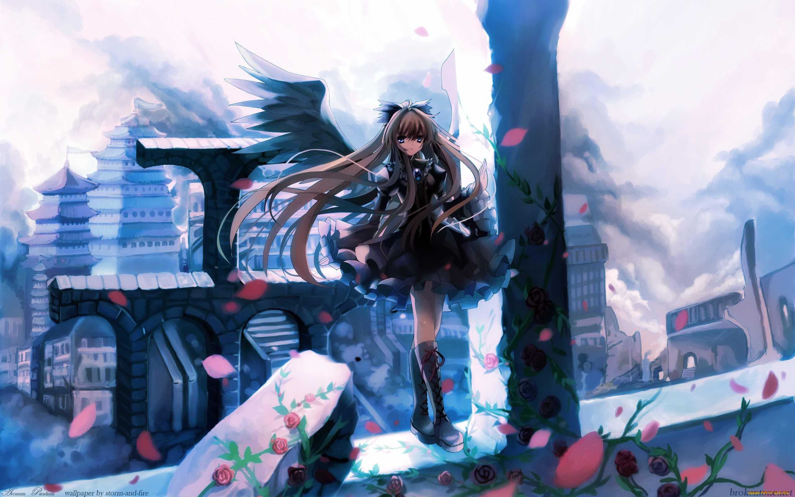 Девушка на балконе японское аниме  № 3866861 бесплатно
