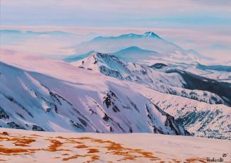 Картинка рисованные природа горы