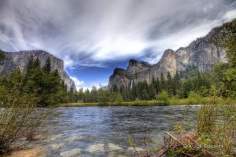 Картинка природа реки озера небо деревья горы вода
