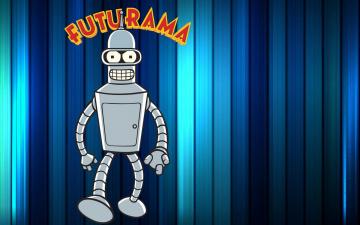Картинка футурама мультфильмы futurama робот бендер bender bending rodriguez полосы