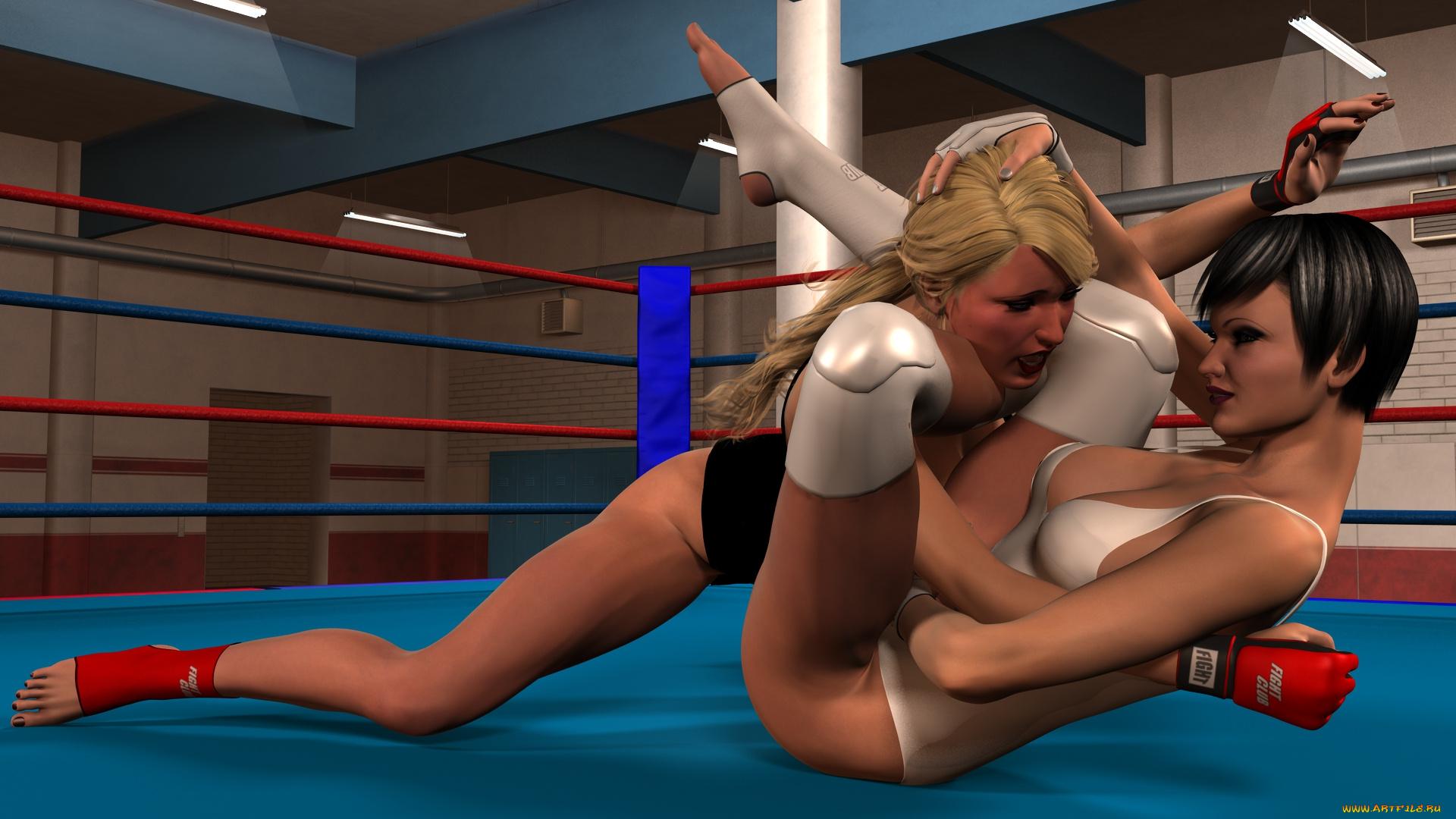Лесбиянки на ринге онлайн порно