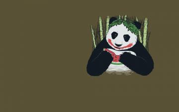 Картинка рисованные минимализм панда