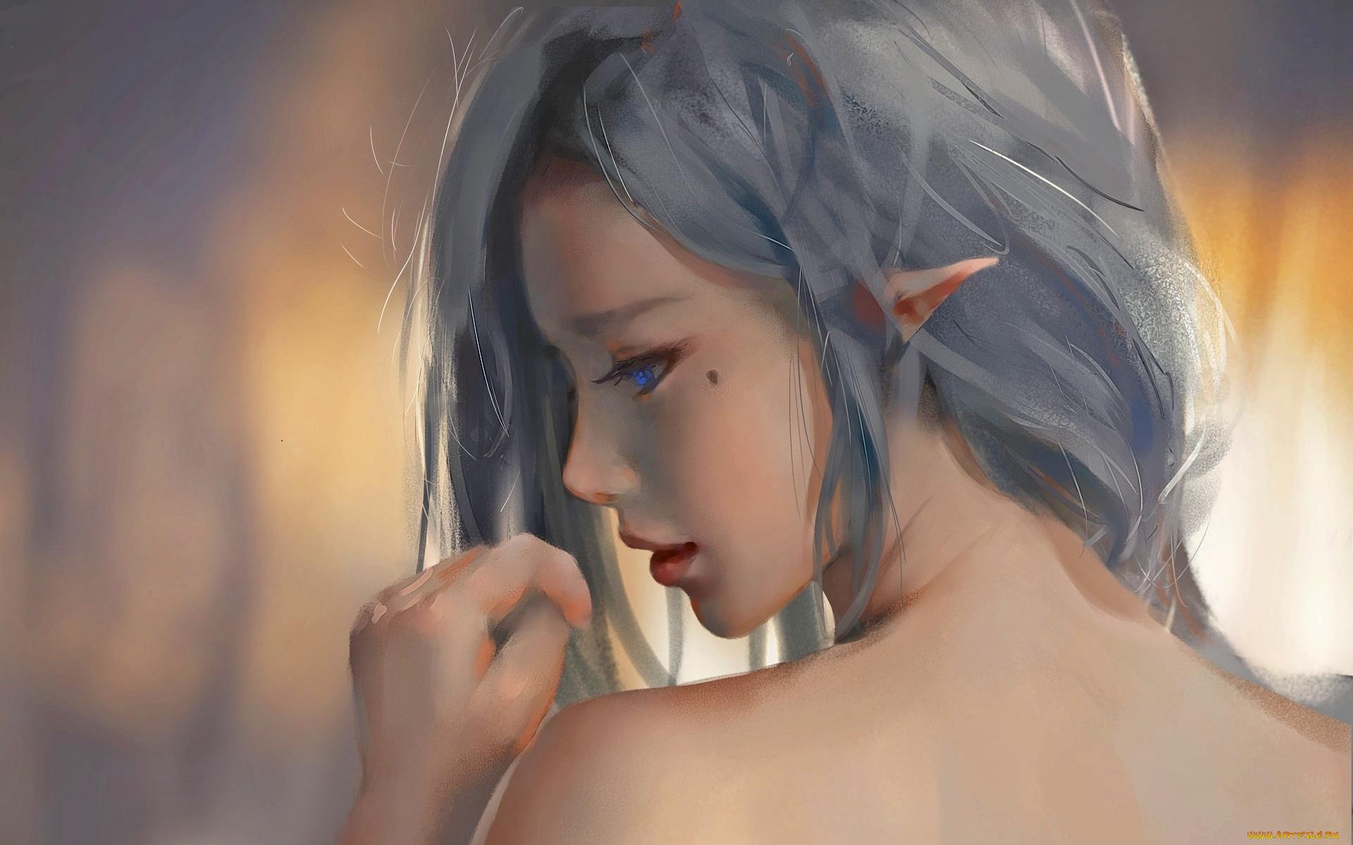 Картинках, грустные и красивые картинки с эльфийскими девушками