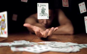 обоя разное, настольные игры,  азартные игры, игрок, джокер, карты