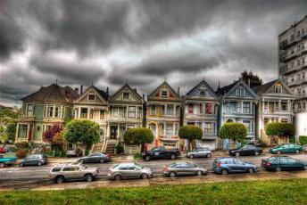Картинка сша сан франциско victorian houses города улица дома