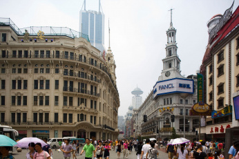 Картинка города шанхай китай