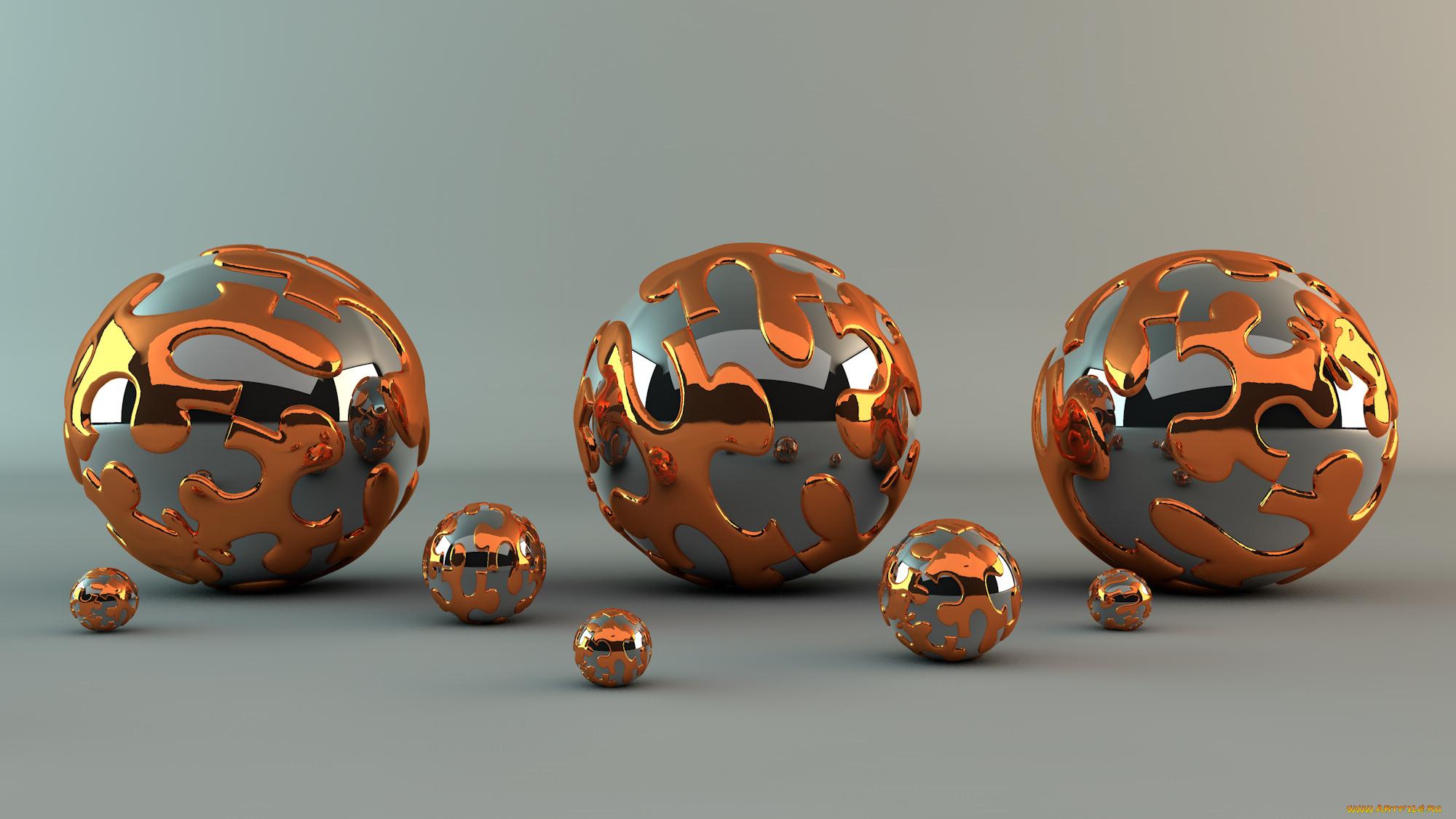 Хромированые шары  № 3335951  скачать