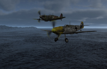 Картинка авиация 3д рисованые v-graphic море полет самолеты