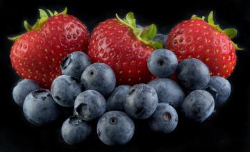 обоя еда, фрукты,  ягоды, ягоды, клубника, голубика