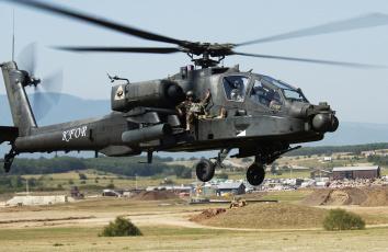 Картинка ah 64 apache авиация вертолёты вертолет сша штурмовой