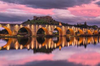 обоя medell&, 237,  provincia de badajoz,  extremadura, города, - мосты, простор