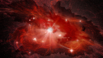 обоя космос, арт, туманность, галактика