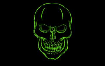 обоя рисованное, минимализм, скелет, череп, голова, зеленый, skull