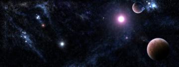 Картинка космос арт планеты звезды вселенная