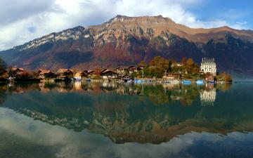 Картинка швейцария берн изельтвальд города пейзажи озеро дома горы