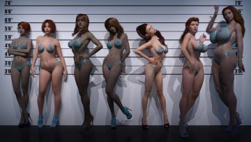Картинка 3д+графика люди+ people девушки взгляд фон