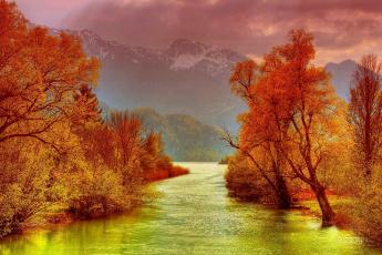 Картинка природа реки озера горы тучи река