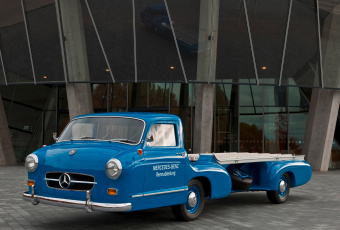 обоя mercedes-benz blue wonder transporter concept 1954, автомобили, mercedes-benz, blue, 1954, transporter, wonder, concept