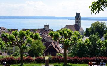 обоя meersburg,  lake constance, города, - панорамы, lake, constance
