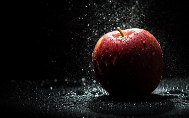 Обои картинки фото еда, Яблоки, капли