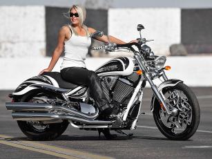 Картинка мотоциклы мото девушкой
