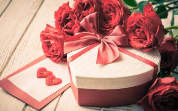Картинка праздничные день+святого+валентина +сердечки +любовь цветы любовь розы лепестки valentine's day