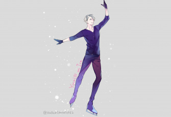 обоя аниме, yuri on ice, victor, nikiforov